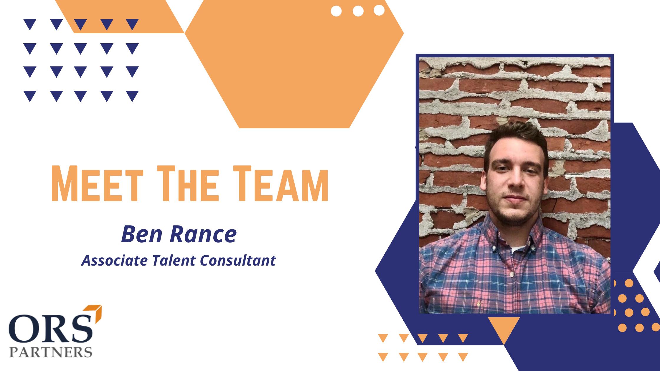 Meet the Team: Ben Rance