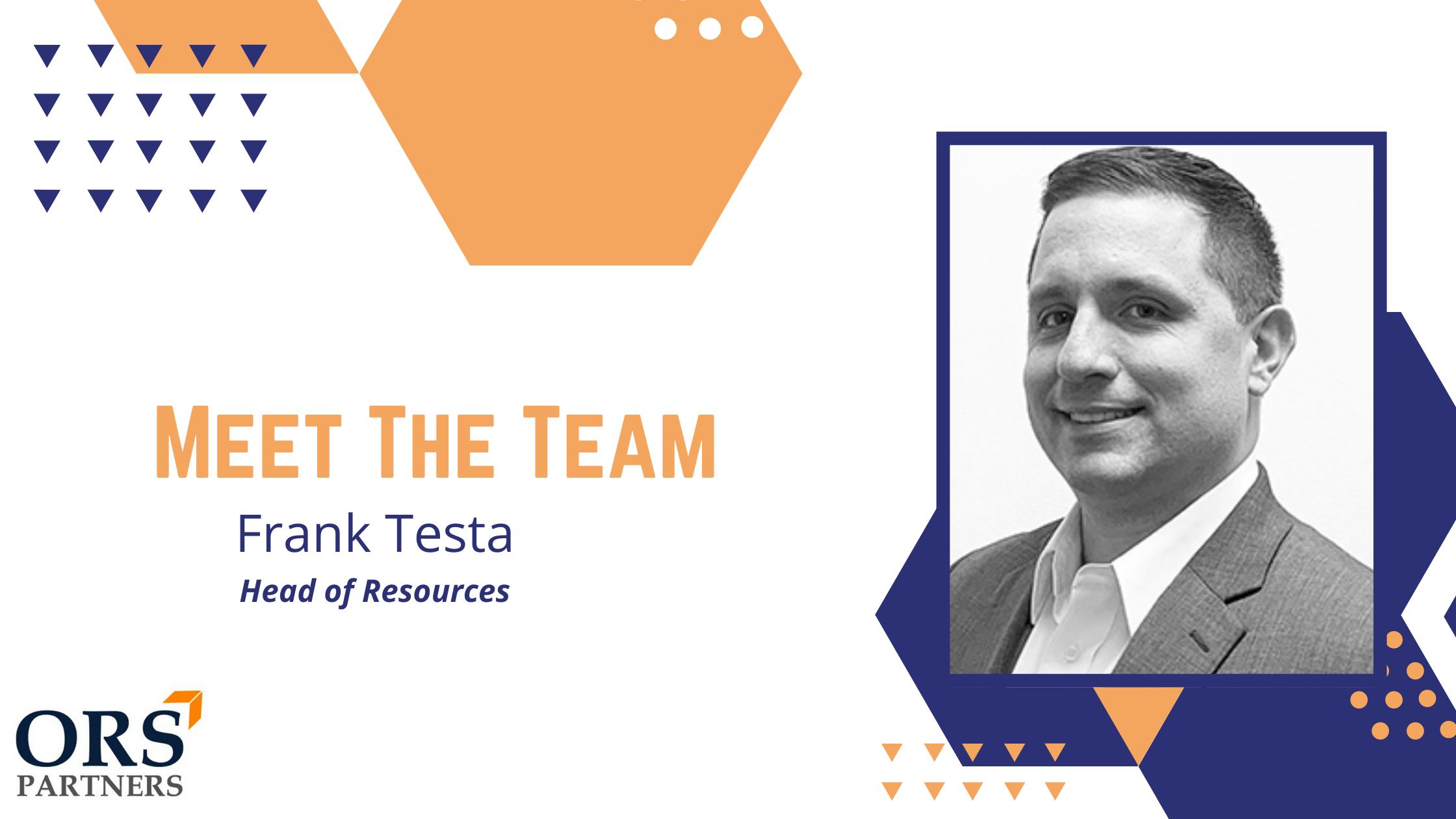 Meet the Team: Frank Testa